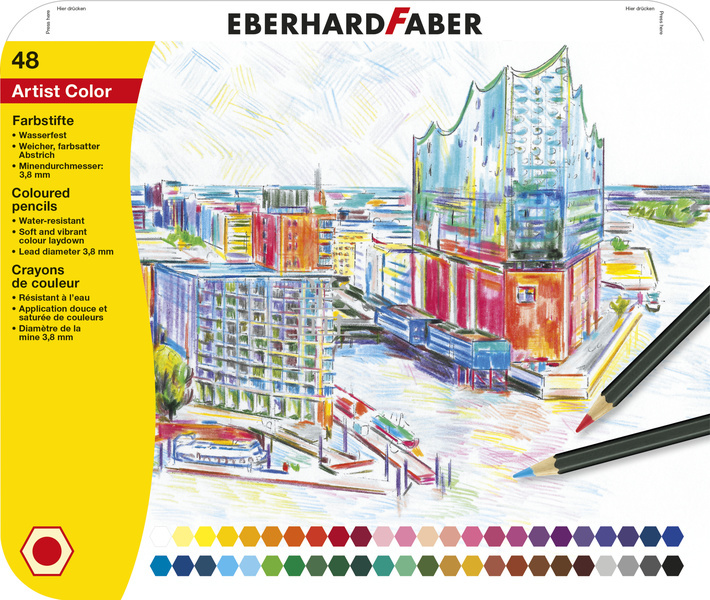 Eberhard Faber EF-516148 Kleurpotloden Metaaletui A 48 Stuks