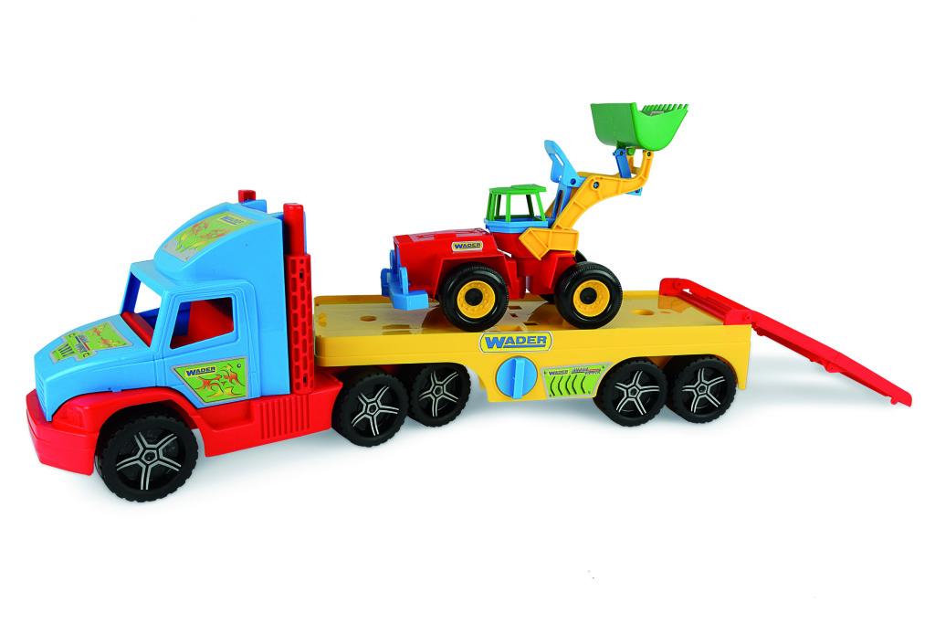 Wader Super Truck Oplegger met Graafmachine