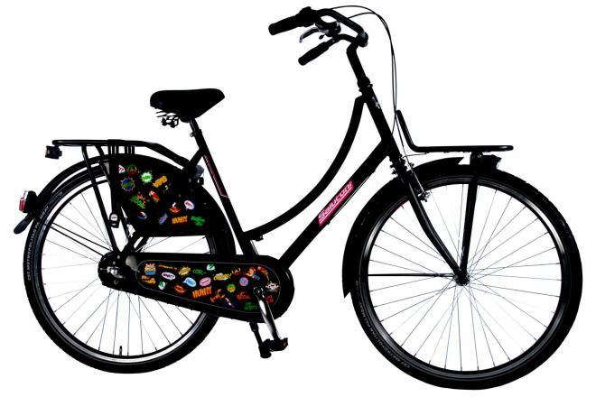 SALUTONI zwart Urban Transport fiets - Unisex - 28 inch - 56 cm - Shimano Nexus 3 versnellingen