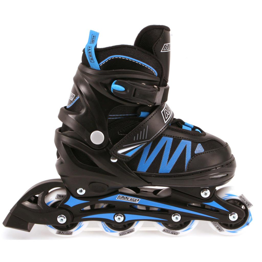 Alert Inline Skates Zwart/Blauw Maat 31-34