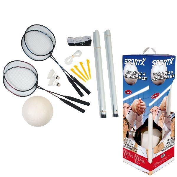 SportX Volleybal-Badminton Set