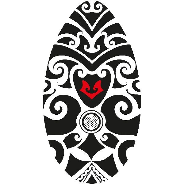Skimboard Tribal Zwart-Wit 100 cm
