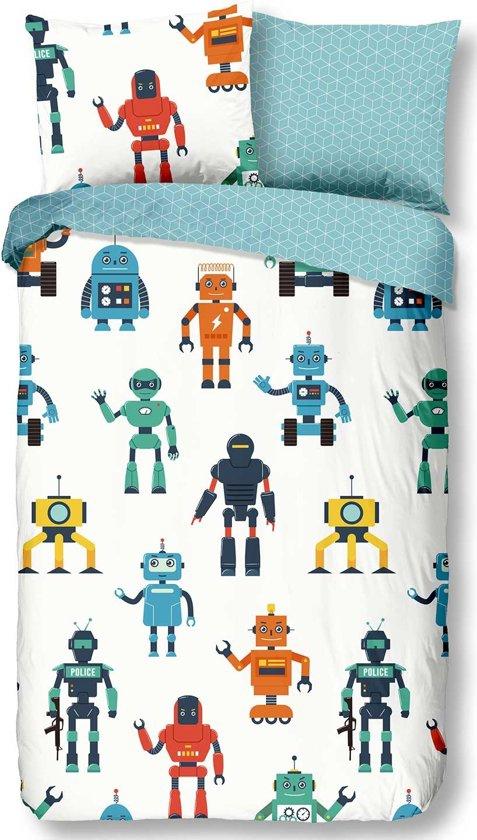 Dekbed Good Morning robots 140x220cm
