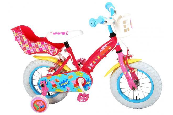 Peppa Pig Kinderfiets handremmen - Meisjes - Roze