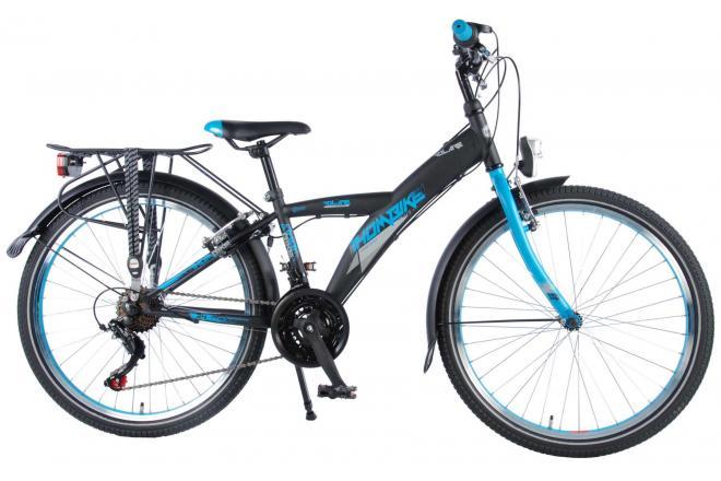 Volare Thombike City Kinderfiets - Jongens - 24 inch - Zwart/Blauw - Shimano Nexus 21 versnellingen