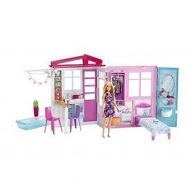 Barbie Huis met Pop + Meubels en Accessoires