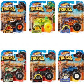 Hot Wheels Monster Trucks Connect and Crash Auto Assorti