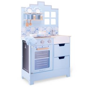 Keukentje New Classic Toys: Delfts Blauw: 60x30x103 cm