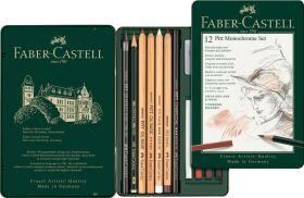 Faber Castell Pitt Monochrome Set Faber-Castell 12-delig Medium