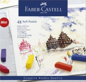 Faber Castell Pastelkrijt Halve Lengte Etui à 48 Stuks