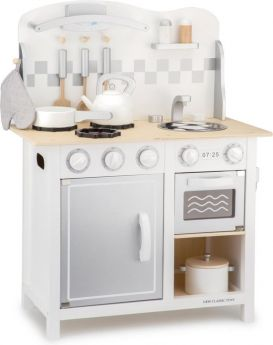 Keukentje New Classic Toys appetit: deluxe wit/zilver