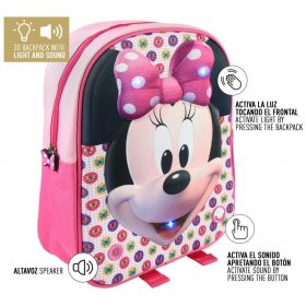 Roze Disney Minnie Mouse Rugzak met LICHT en GELUID