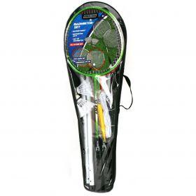 Alert Badmintonset 4 Rackets/2 Shuttles/Net