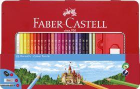 Faber Castell  Kleurpotlood Faber-Castell Castle Zeskantig Metalen Etui 48 Stuks Met Accessoires