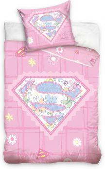 Dekbed ledikant Superbaby roze 100x135 cm