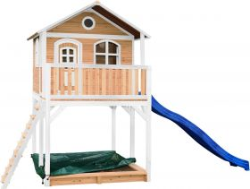 Andy Playhouse Brown/white - Blue slide