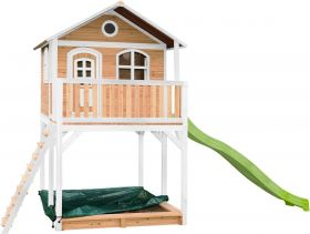 Andy Playhouse Brown/white - Lime green slide