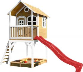 Andy Playhouse Brown/white - Red slide