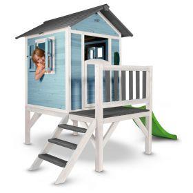 Sunny Lodge XL Speelhuisje Blauw-Wit