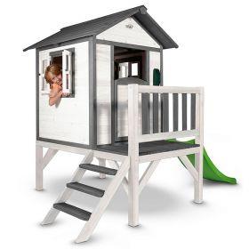 Sunny Lodge XL Speelhuisje Grijs-Wit