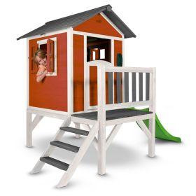 Sunny Lodge XL Speelhuisje Rood-Wit