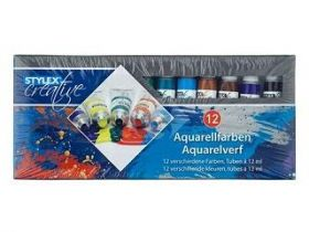 Toppoint/Stylex Aquarelverf 12ml 12 Tubes