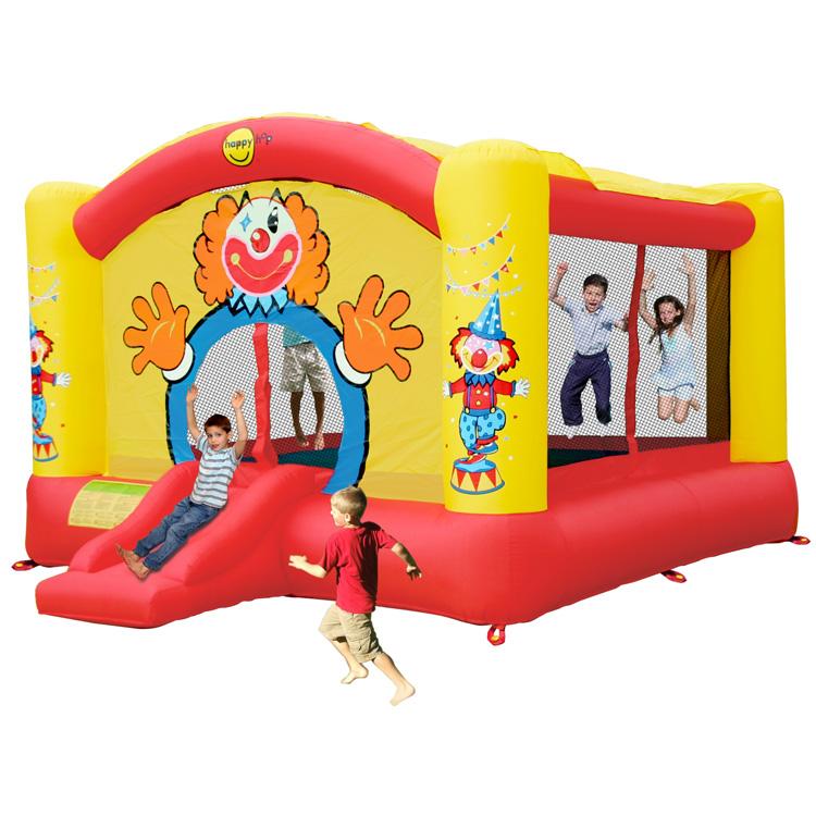 Springkussen Happy Hop Super Clown Slide Bouncer