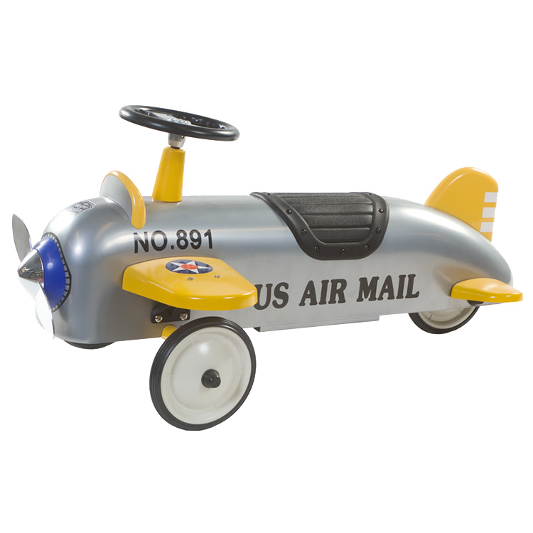 Charles Retro US AIR MAIL Loopvliegtuig