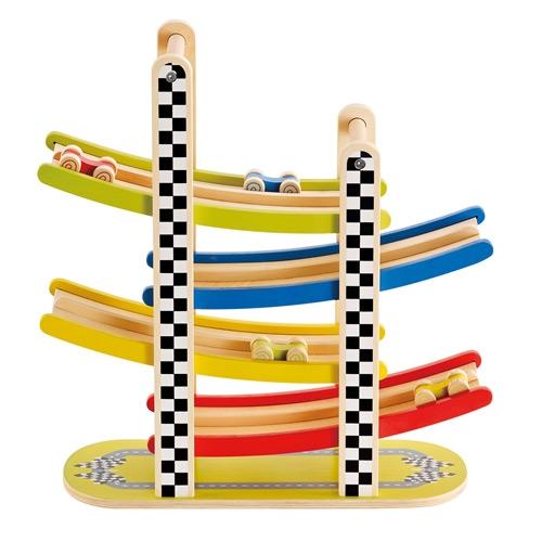 Zigzag houten racebaan